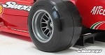 1/10 F1 Hard front tire 2pc pre glued set F104 V2