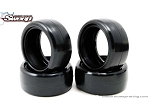 Sweep Minis 25deg Rubber 4pc tire set with pre-glued options