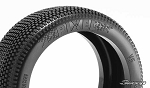 8th Buggy PIXEL Soft Red-X dot 4pc tire set with Pre-glued options. 313RX