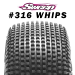 8th Buggy WHIPS Ultra Extreme Soft Gold dot 4pc tire set with Pre-glued options. 316G
