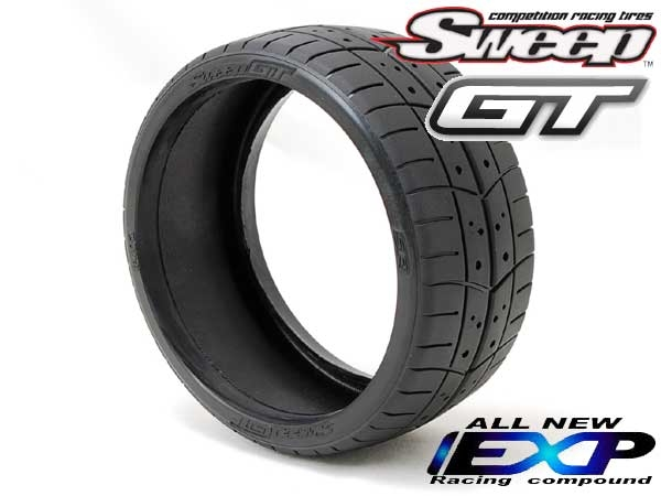 sweep racing gt tires set deg  traction  long   reliable tires  gt racing