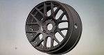 8th GT Wheel EVO16 ROK HARD Black. SW-EVO16B