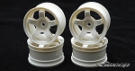 Sweep Minis ROK HARD Wheel 5 Spoke White 4pc set