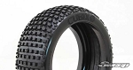 8th Buggy Cubix Extra soft Blue dot 4pc tire set with Pre-glued options. 309B