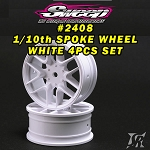 10th TC 16 Spoke White wheels 4pcs set