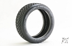 8th Buggy CELLBLOCK Ultra Extreme Soft Gold dot 4pc tire set with Pre-glued options. 315G