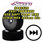 Sweep FAST FORWARD SOFT FOAM TIRES for GT8 17mm HEX 2pcs set