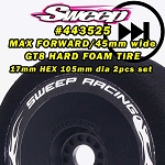 Sweep MAX FORWARD HARD FOAM TIRES for GT8 17mm HEX 2pcs set