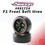 F1 Front Soft compound V6 Low Profile 2pcs pre-glued tires set