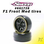 F1 Front Medium compound V6 Low Profile 2pcs pre-glued tires set