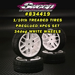 GT10/FWD Treaded Belted tires 34deg  4pcs set with preglue options