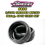 GT10/FWD Treaded Belted tires 36deg  4pcs set with preglue options