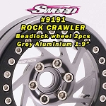 Crawler Beadlock 1.9 Grey Aluminium Wheel 2pcs set