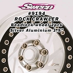 Crawler Beadlock 1.9 Silver Aluminium Wheel 2pcs set