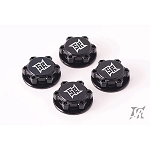 Sweep 17mm 8th scale Light Weight Black Anodized serrated wheel nuts (4)