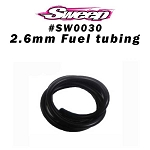Sweep Silicone fuel tubing 2.6mm inner Dia,  40