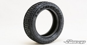 "10th Buggy 2.2"" Soft 2WD Front tire 10Droid Red dot 2pc set 101F2R"