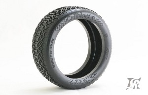 8th Buggy CELLBLOCK Ultra Soft Silver dot 4pc tire set with Pre-glued options. 315S