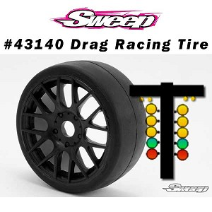 GT2 Drag Racing-Speed runs BELTED preglued tires set 17mm HEX