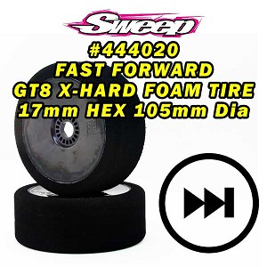 Sweep FAST FORWARD X-HARD FOAM TIRES for GT8 17mm HEX 2pcs set