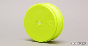 "10th Buggy 2.4"" Yellow 4WD Front VTR wheel 2pc set 10YF"