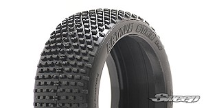 8th Buggy Battle Star Ultra Soft Silver dot 4pc tire set with Pre-glued options 302S